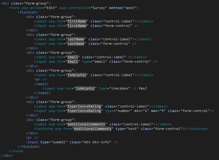 ASP NET Core 1 0 - Quick Look at RAZOR Views new Tag Helpers