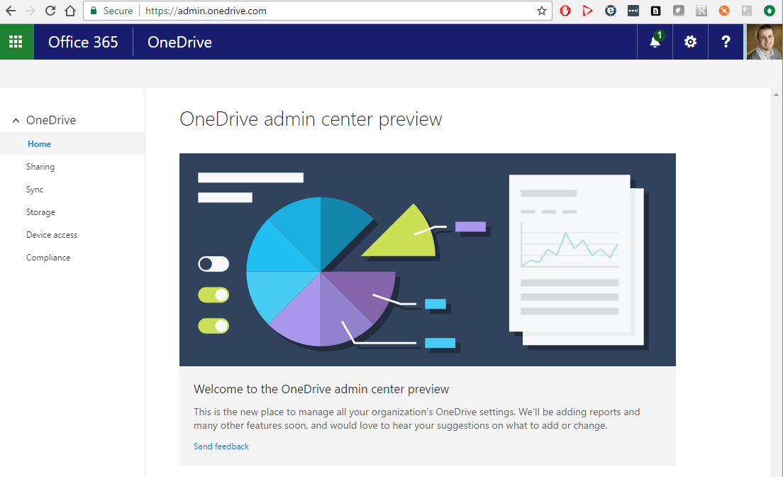 A Look at the New OneDrive for Business Admin Center