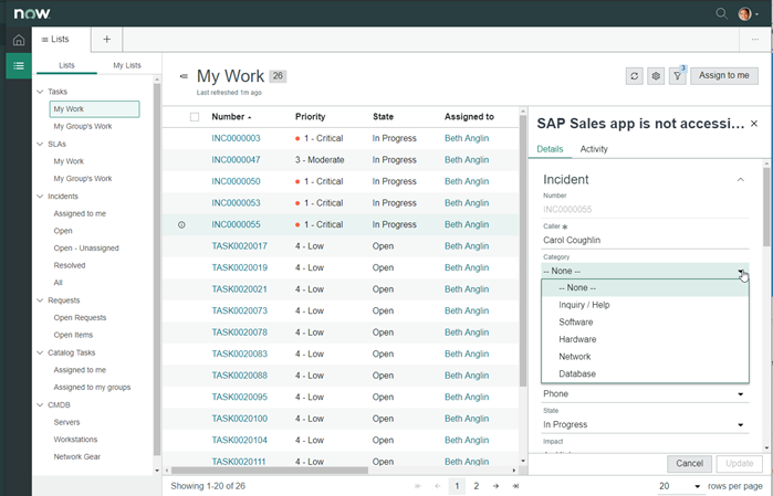 ServiceNow Agent Workspace Quick Edit