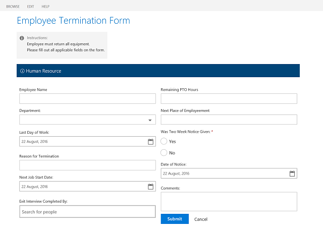 Custom SharePoint Form Using Office UI Fabric and Angular