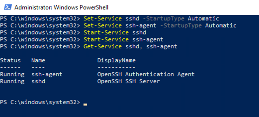 Getting Started with SSH on Windows Server 2019 - Concurrency