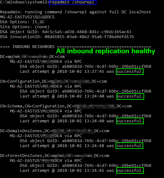 Active Directory Replication Troubleshooting - Concurrency
